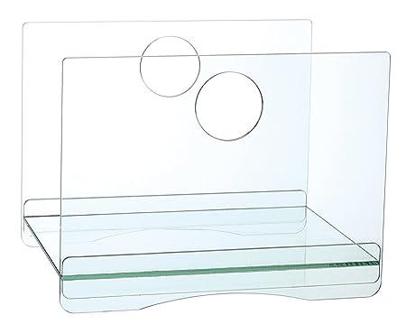 Now's Home 7575819 lenguado-Mesa de centro, color azul, fibra de vidrio 35 x 43,5 cm.