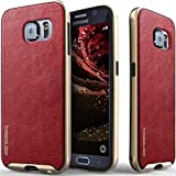 Galaxy S6 case, Caseology [Envoy Series] PU Leather [Burgundy Red] Premium Leather Bumper Cover [Leather Textured] Samsung Galaxy S6 case