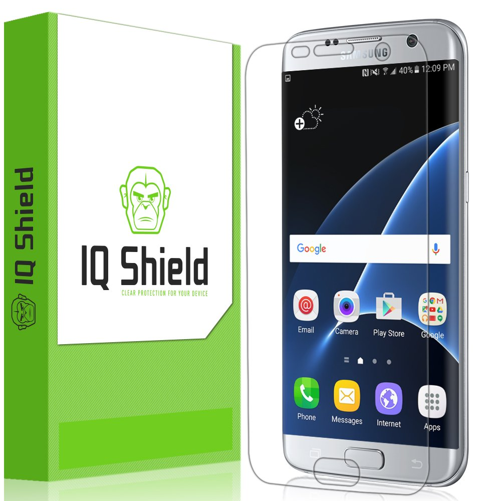 IQ Shield® LiQuidSkin - Samsung Galaxy S7 Edge Screen Protector (Full Coverage) & Lifetime Warranty - HD Ultra Clear Film - Protective Guard - Extremely Smooth / Self-Healing / Bubble-Free Shield