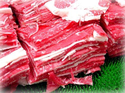 【いい肉屋】九州産(黒毛和牛・褐毛和牛・国産牛)牛こま切れ(切り落とし)[約1Kg]<訳あり>【送料無料】