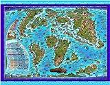 Prehistoric World Children's Illustrated Wall Map (Children's Maps)