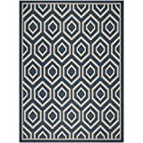 Safavieh Courtyard Collection CY6902-268 Navy and Beige Area Rug, 8 feet by 11 feet (8' x 11')