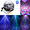 Intsun® Mini Bluetooth Voice activated RGB LED Crystal Magic Ball Effect Light, Disco Stage Lighting, Bluetooth crystal ball lamp, with Remote Control+Bluetooth Control (Bluetooth) from Intsun