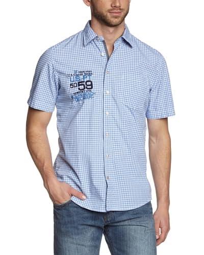 Tom Tailor Camisa Hombre Azul Medio