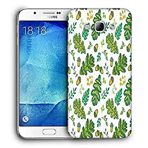 Snoogg Green Small Leaves Printed Protective Phone Back Case Cover For Samsung Galaxy Note 5