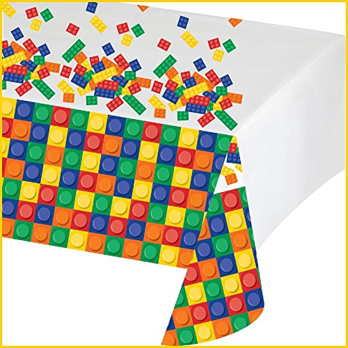 Creative Converting - Building Block Party Plastic Tablecover