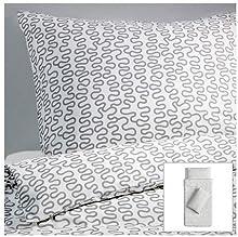 Comprar Ikea - Ropa de cama fija krakris 155x220 blanco / gris