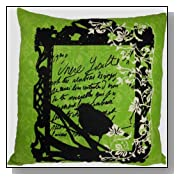 Printed Floral and Bird Throw Pillow Cover 18