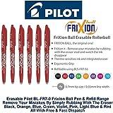 Pilot Red Frixion Rollerball Erasable Pens Pen 0.7mm Nib Tip 0.35mm Line BL-FR7 (Pack Of 3)