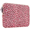 PLEMO Leoparden-Spots Canvas-Gewebe H�lle Sleeve Tasche f�r 27,9-29,5 cm (11-11,6 Zoll) Netbook / Laptop / Notebook Computer / MacBook / MacBook Air, Rosa