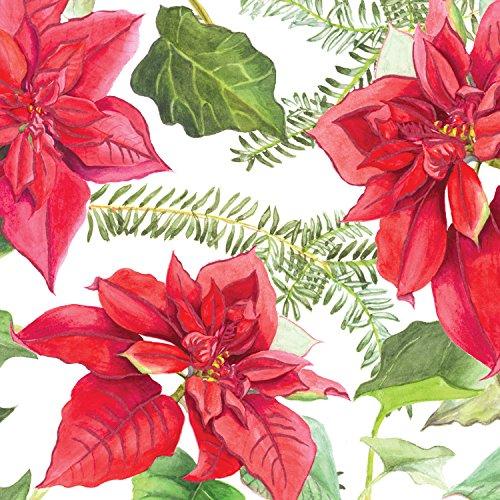 Jillson Roberts Christmas Flat Gift Wrap, Christmas Bloom, 12 Sheet-Count (Xf624)