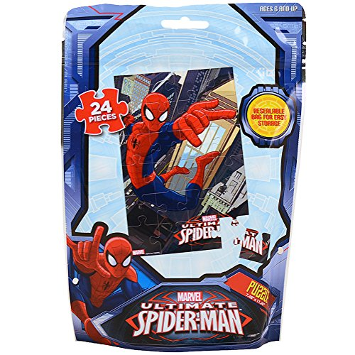 Marvel Ultimate Spider-Man Puzzle [24 Pieces - Resealable Bag] - 1