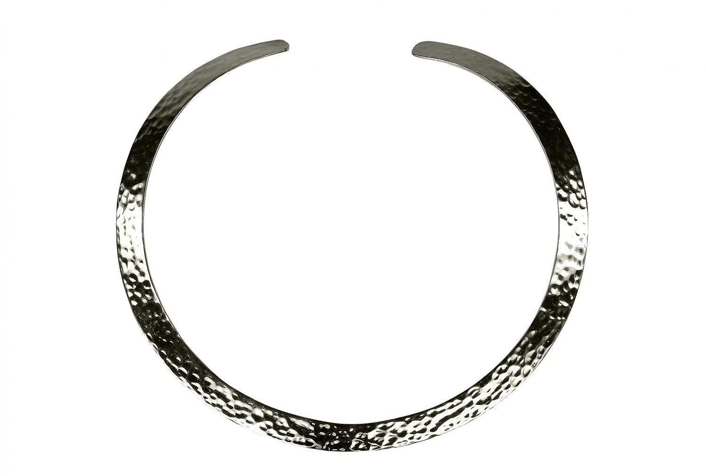SILBERMOOS Damen Halsreif offen gehämmert massiv glänzend 925 Sterling Silber als Weihnachtsgeschenk kaufen