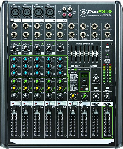 Mackie PROFX8V2 8-Channel Compact Mixer with USB and Effects (Channel Mixer Usb compare prices)