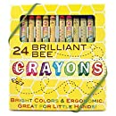 International Arrivals Natural Beeswax Crayons, Set of 24 (133-50)