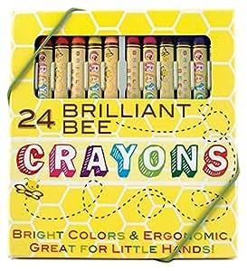 International Arrivals Natural Beeswax Crayons, Set of 24 (133-50)