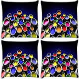 Snoogg Range Of Colours Pack Of 4 Digitally Printed Cushion Cover Pillows 12 X 12 Inch