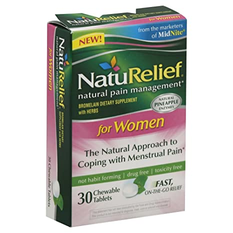 Отзывы NatuRelief Natural Relief for Menstrual Pain -- 30 Chewable Tablets