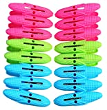 Pack of 16Pcs Plastic Cloth Laundry Clips Pegs (Assorted Colors)