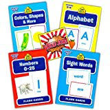 School Zone Flash Cards Super Set Toddler Kids -- 4 Packs (ABC Flash Cards, Numbers, Colors And Shapes, Sight...