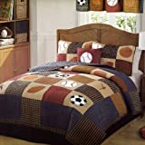 Classic Sports Full/Queen Quilt and 2 Pillow Shams by Pem America