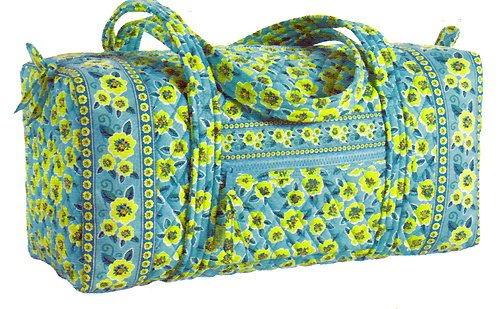 Maggi B French Country Kiwi Blossom Quilted Cotton Gym Tote Fall 2007 #MB02941