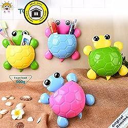 Creative Turtle Toothpaste Holders Cup Four Colors Cute Cartoon Tortoise Shaped Bathroom Toothbrush Holder Bathroom Accessories