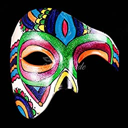 Day of the Dead Phantom Masquerade Mask - Jewelry