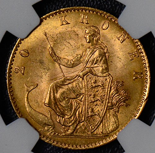 1900 DK NG0243 Denmark 20 Kroner HC CS NGC MS64 mermaid agw .2593 oz of pure gold DE PO-01 NGC (Cs Po compare prices)
