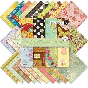 K&Company 12-by-12-Inch Best of Brenda Walton Designer Paper Pad, 150 Sheet