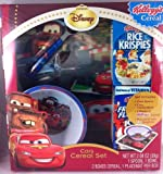 Disney Cars Cereal Set, Includes: Spoon, Bowl, Kellogg's Cereal and Placemat