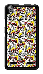 """Humor Gang Pug Retro Pattern Printed Designer Mobile Back Cover For """"Lenovo A6000 Plus"""" (3D, Glossy, Premium Quality Snap On Case)"""