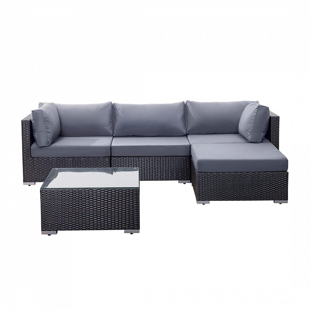 Rattan Gartenmöbel - Sofa aus Polyrattan - Sitzgruppe - Gartenlounge - SANO
