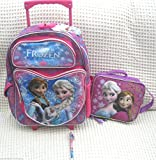 Frozen Olfa, Anna, and Olfa 16 Rolling Backpack and Matching Lunch Bag Lunch Box and Frozen Pen (Random Style)-brand New!