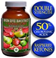 Green Coffee Bean Extract (800mg) combined with Raspberry Ketones (100mg) | MAX 50% Chlorogenic Acids