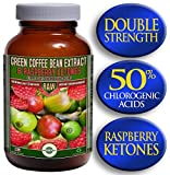Green Coffee Bean Extract (800mg) combined with Raspberry Ketones (100mg) | MAX 50% Chlrogenic Acids