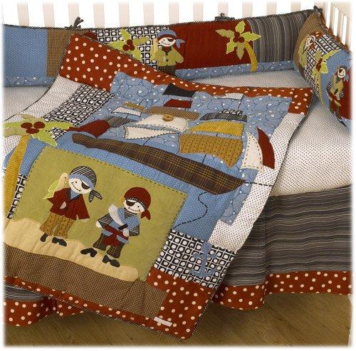 Cotton Tale Designs Pirates Cove 4 Piece Crib Bedding Set