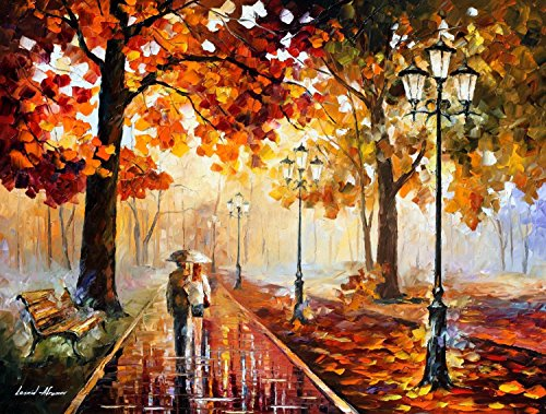 Hand-Painted Nice Oil Paintings With Palette Knife On Canvas Modern Art Living Room Furniture (Stroll Of Infinity) - 40 X 30 Inch , Unframed