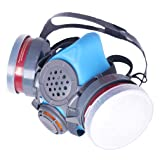 T-60 Respirator (Updated Blue Model) Daul N95 Activated Charcoal Civilian Air Filters - Industrial Grade Quality - Pure Safe Breathing for Toxic Spray.