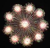 """8"""" Lighted Iridescent Foil Flower Christmas Tree Topper"""