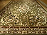New Large 8x11 and 5x8 Set Green Traditional Rug Living Room Area Rugs 8x10 Green Rug Black Cream Beige Brown 5x7 Persian Design Rug Classic Carpet (Large 8x11)