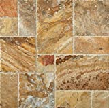 Scabos Travertine Roman / MIDI Versailles Patterned Tiles (UF/B/CE)