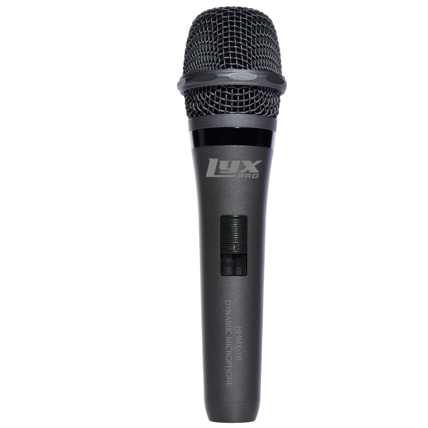LyxPro HHMX-10 Wired Handheld Vocal Dynamic Microphone Cardioid on/off switch, Clear, Accurate Sound Reproduction for Live Vocals, Recording and Instruments