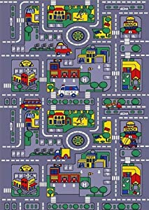 City Truck Children Area Rug 39x58 by NAVITZ