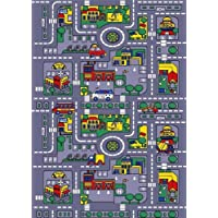 Kids Area Rug - City Map Design