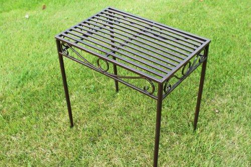 Beistelltisch oder Untergestell aus Metall, im Versailles-Stil, in antiker Bronzeausführung (große Größe) – Ideal für Haus und Garten günstig