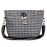 niceeshop(TM) Fashion Women Grid Handbag Crossbody Satchel Shoulder Bucket Bag