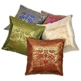Ufc Mart Multi -Color Jacquard Cushion Cover 5 Pc. Set, Color: Multi-Color, #Ufc00455