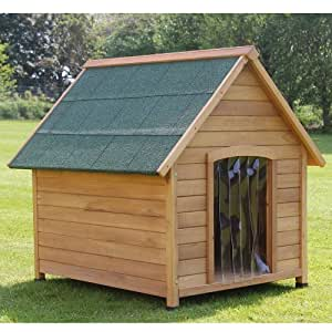 Large luxury outdoor dog kennel pet house with waterproof entrance and apex roof - Luxury outdoor dog houses ...