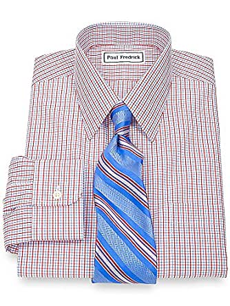 Paul fredrick men 39 s non iron straight collar trim fit Straight collar dress shirt